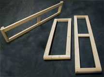 We supply the sides or ends of the divan frame in assembled format