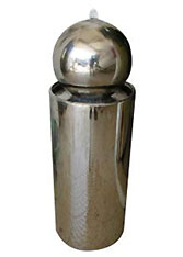 Water Fountain: Stainless Steel Ball on Stainless Base