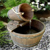 Water Fountain: Oak Barrel