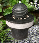 Water Fountain: Granite Ball & Stand